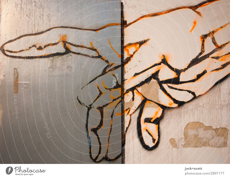 Finger Tip Graffiti Berlin Style Exceptional Brown Moody Design Line Metal Esthetic Creativity Touch Curiosity Discover Serene Contact