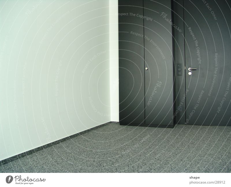 third room Room Door Dark Free Bright Modern Gray Black White Cupboard Wall (building) Empty Wardrobe door Carpet Contrast Golden section Colour photo