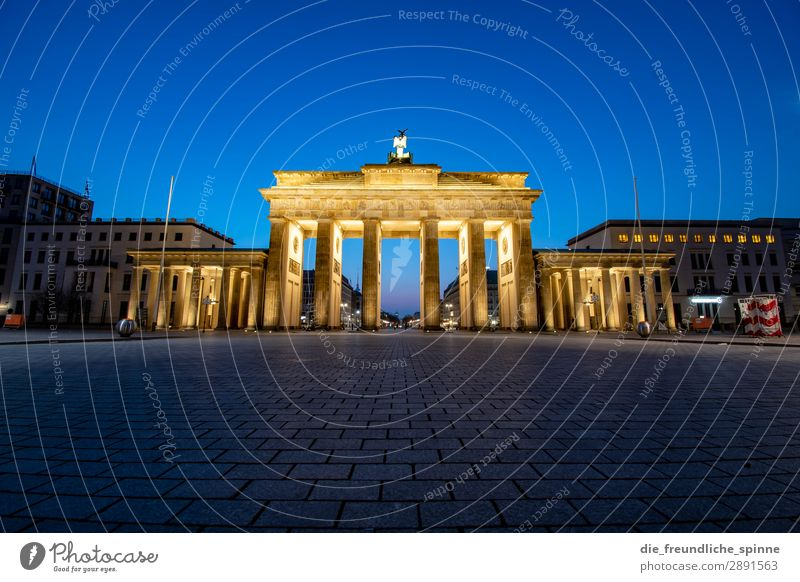 Sunrise at Brandenburg Gate Berlin Architecture Goal Capital city Historic Sky Germany Landmark Tourism Colour photo Manmade structures Exterior shot