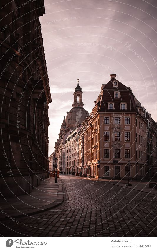 #A# Dresden Spring I Art Esthetic Old town Frauenkirche Saxony Capital city Alley Historic Historic Buildings Colour photo Subdued colour Exterior shot Deserted