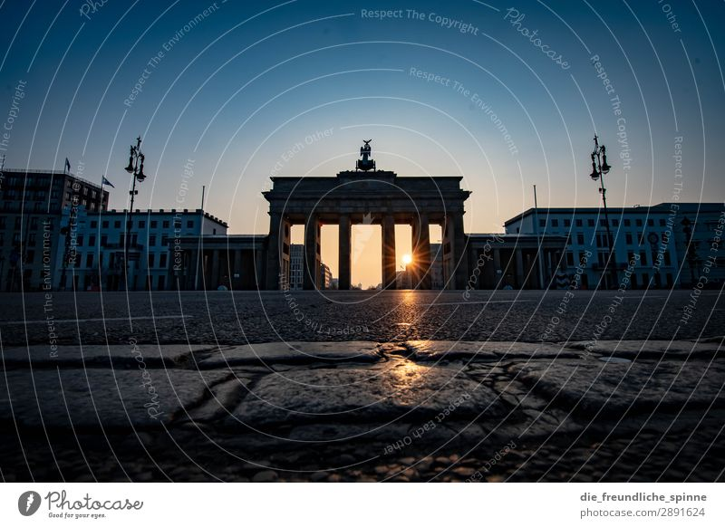 Morning sun in Berlin V Sun Sunrise Sunset Sunlight Spring Beautiful weather Germany Europe Town Capital city Downtown Tourist Attraction Landmark Pariser Platz