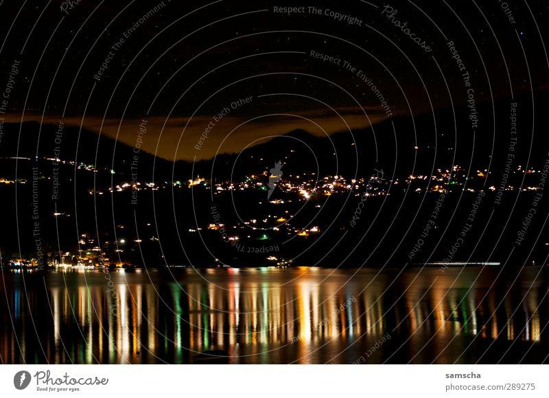 Sky Water Clouds Landscape Environment Dark Cold Coast Lake Bright Dream Wet Illuminate Stars Peak Lakeside