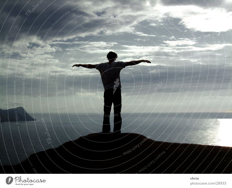 Human being Water Sky Ocean Clouds Emotions Freedom Stone Lake Air Bird Waves Arm Wind Flying Rock