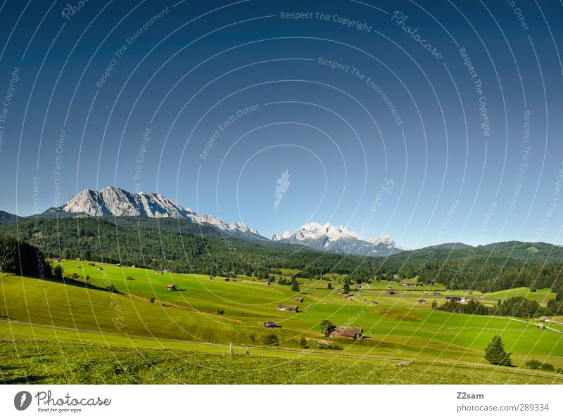 Nature Blue Vacation & Travel Green Summer Landscape Relaxation Environment Meadow Mountain Horizon Natural Leisure and hobbies Hiking Beautiful weather Idyll