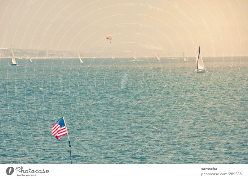 Land of freedom Vacation & Travel Tourism Adventure Far-off places Freedom Summer Ocean Sailing Environment Nature Water Sky Horizon Wind Waves Coast