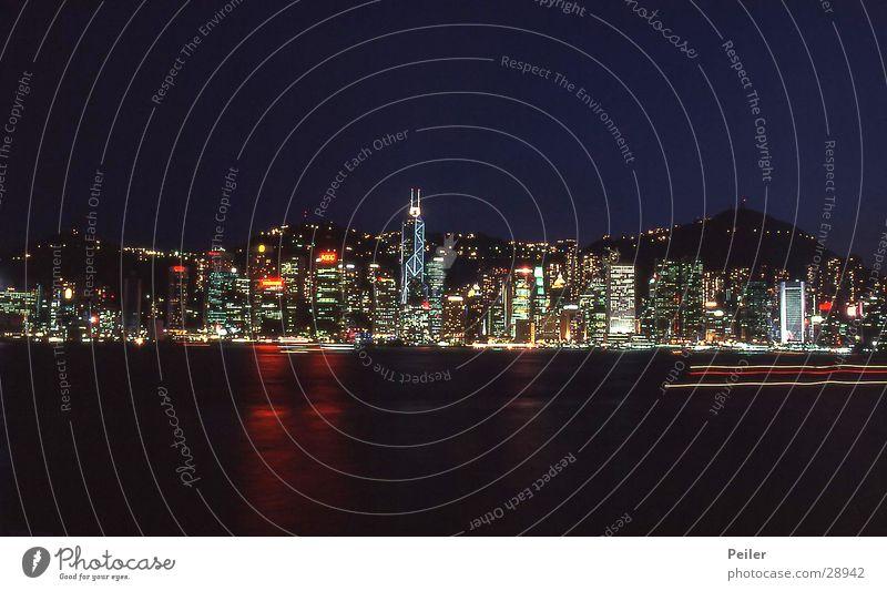 Black Architecture High-rise Skyline Hongkong