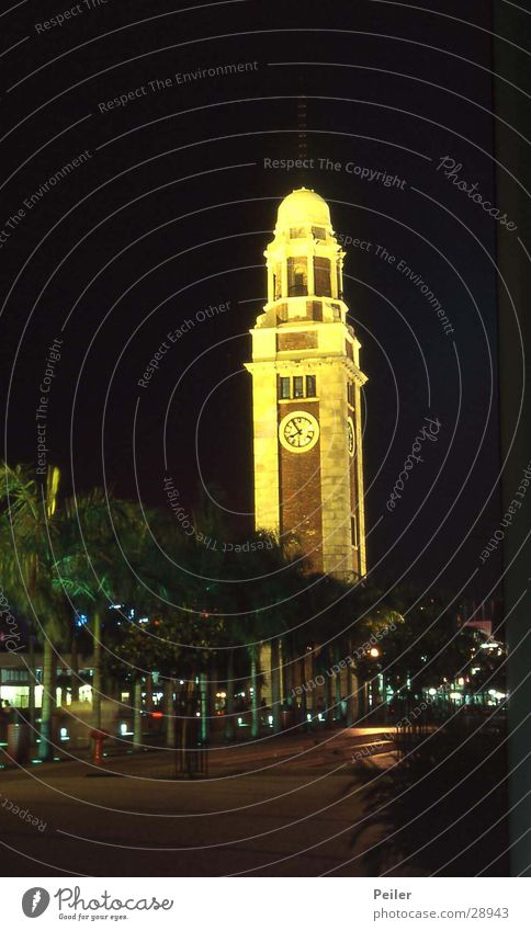 Black Yellow Architecture Tower Clock Church clock