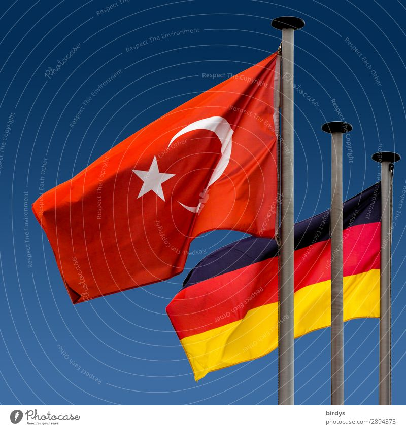 Turkey - Germany a community of fate Sign Flag Esthetic Authentic Together Uniqueness Positive Blue Gold Red Black White Might Responsibility Hope Concern