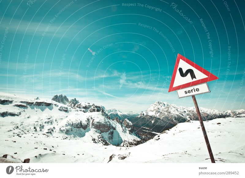 winter Environment Nature Landscape Elements Air Sky Horizon Winter Climate Beautiful weather Snow Alps Mountain Peak Snowcapped peak Sign Signs and labeling