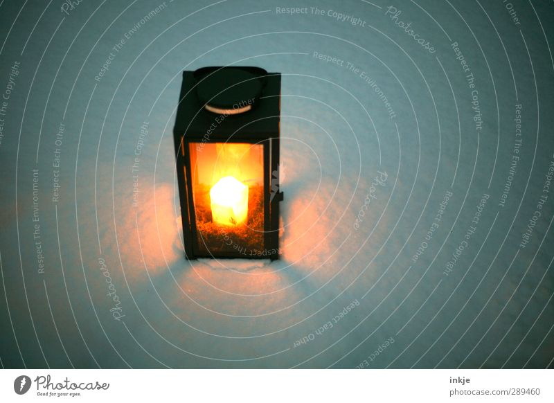 Beautiful White Loneliness Winter Calm Black Dark Cold Snow Weather Orange Illuminate Break Candle Pure Lantern