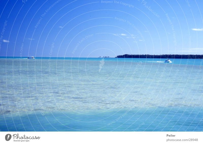Aitutaki Caribbean Sea Turquoise Ocean Pacific Ocean Blue Water Sky