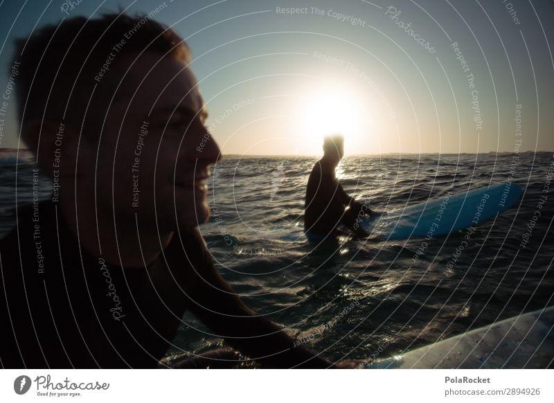 #ATE# we go Art Esthetic Joy Joybringer Friendship Surfing Surfer Surfboard Surf school Ocean Sea water Masculine Man Colour photo Subdued colour Exterior shot