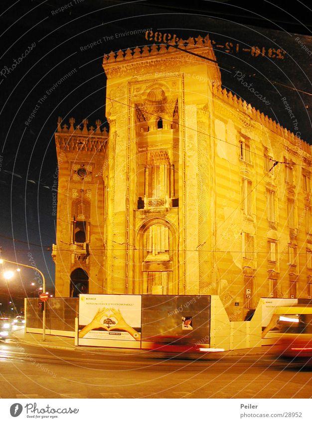 Building Orange Architecture Dusk Night shot National Library