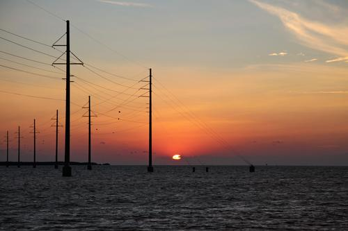 Sky Nature Water Ocean Landscape Spring Coast Energy industry Island Beautiful weather Technology Cable Industry Attachment Solar Power Row
