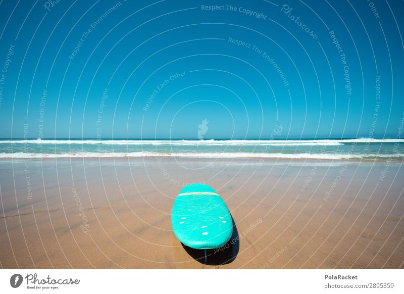 #A# good day Art Work of art Esthetic Surfing Surfer Surfboard Surf school Ocean Beach Coast Vacation photo Colour photo Multicoloured Exterior shot Detail