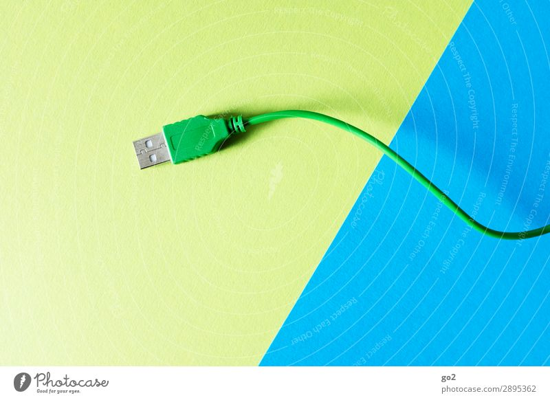 Green USB cable Work and employment Workplace Office Media industry Advertising Industry Meeting To talk Computer Notebook Hardware Cable Technology