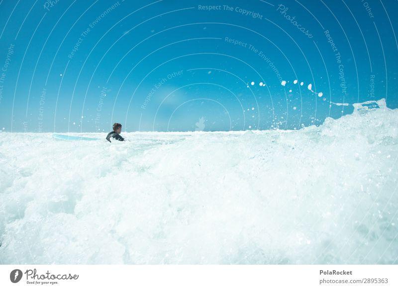 #A# white wash Art Esthetic Ocean Surfing Surfer Surfboard Surf school Waves Swell Undulation Colour photo Multicoloured Exterior shot Detail Experimental