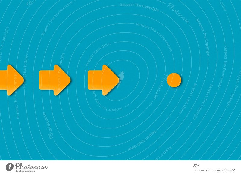 Blue Lanes & trails Orange Esthetic Signs and labeling Signage Circle Simple Planning Target Direction Arrow Orientation Problem solving Right