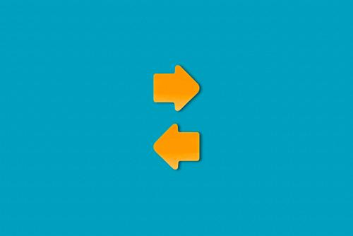 communication Meeting To talk Team Paper Sign Signs and labeling Signage Warning sign Arrow Esthetic Blue Yellow Orange Contentment Advice Movement Relationship