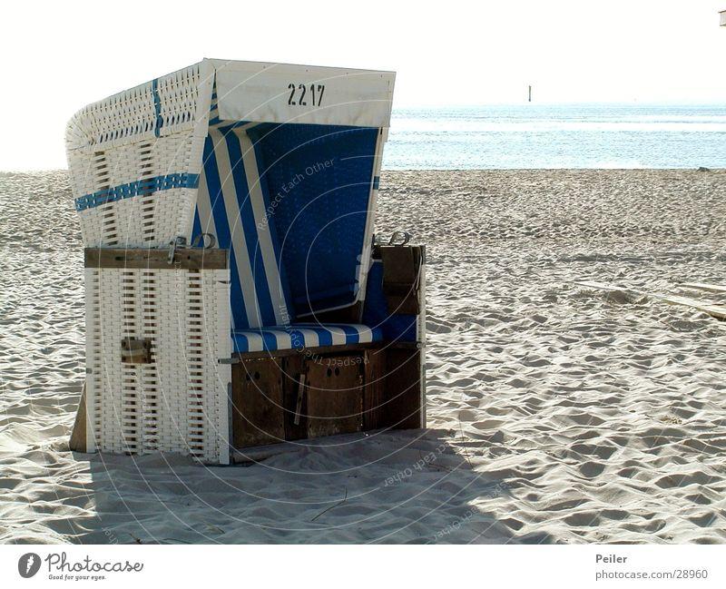 Beach chair on Sylt White Ocean Sand Blue North Sea