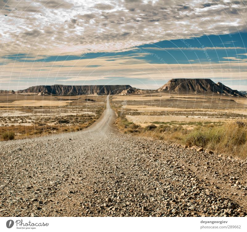Wild west road landscape Vacation & Travel Tourism Summer Mountain Nature Landscape Sand Sky Horizon Weather Park Rock Canyon Monument Street Stone Dark