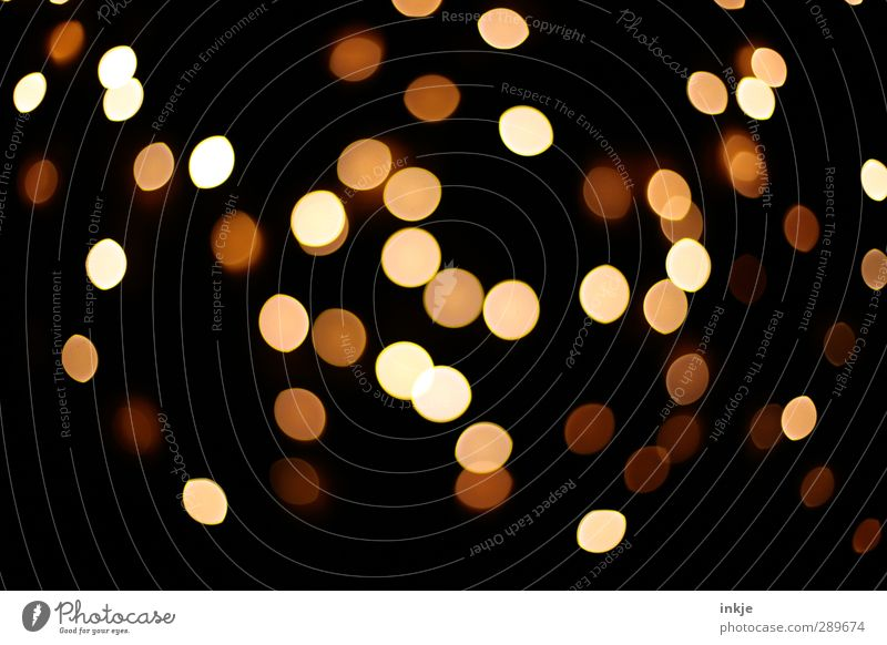 Beautiful Black Dark Yellow Bright Brown Moody Illuminate Decoration Round Point Many Patch Distributed Colour Sea of light