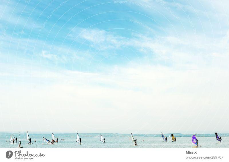 Merry Christmas ;-) Vacation & Travel Tourism Summer Summer vacation Sun Beach Ocean Waves Sports Aquatics Human being Crowd of people Sky Lake Windsurfing