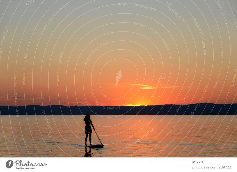 Merry Christmas ;-) Vacation & Travel Trip Adventure Summer Summer vacation Ocean Waves Sports Aquatics Human being 1 Sunrise Sunset Coast Moody Relaxation Calm