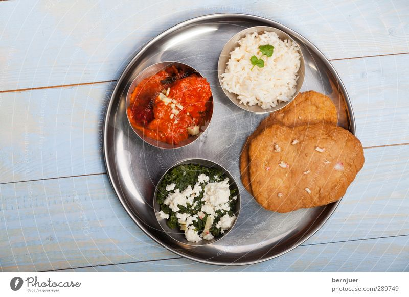 delhi delight Food Meat Cheese Soup Stew Asian Food Plate Bowl Cheap Good Pure Food photograph India thali Rice Bread fryers chicken tikka masala Spinach paneer