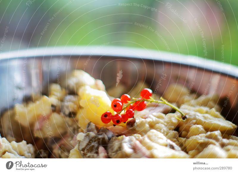 Potato salad with red-eye effect ,-) potato salad Potato dish Potatoes Redcurrant Nutrition Bowl Delicious Appetite