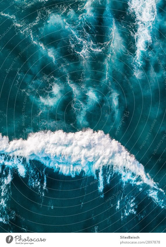 Wave aerial Lifestyle Healthy Wellness Vacation & Travel Tourism Freedom Nature Water Earth Waves Beach Ocean Beautiful Uniqueness Natural Above Surfing