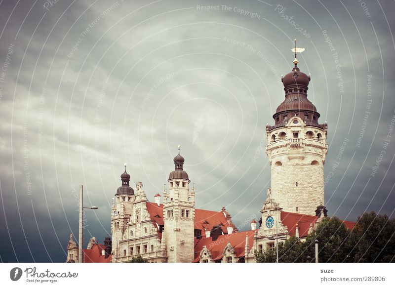 Sky Clouds Environment Dark Architecture Gray Style Weather Climate Tower Culture Fantastic Historic Past Leipzig Landmark