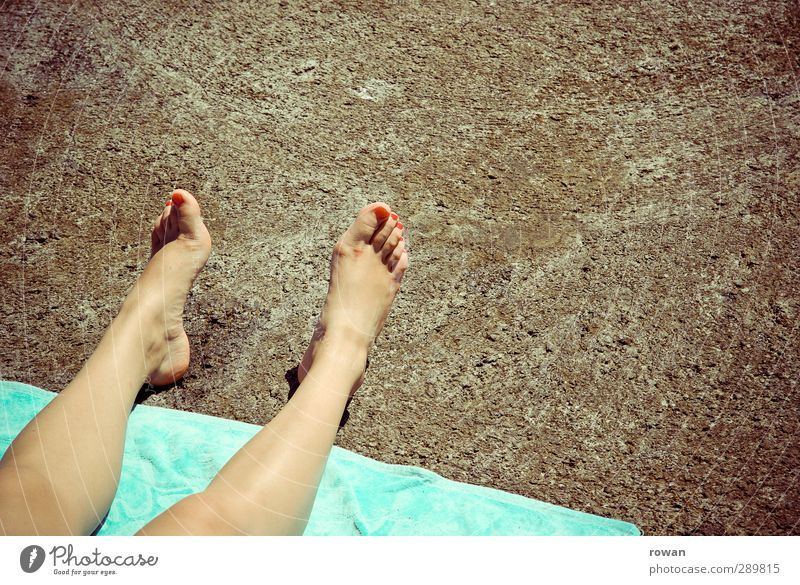 under the pavement is the beach Beach Sustainability Nature Town Vacation & Travel Change Legs Toes Feet Asphalt Hard Towel Sunbathing Warmth Relaxation