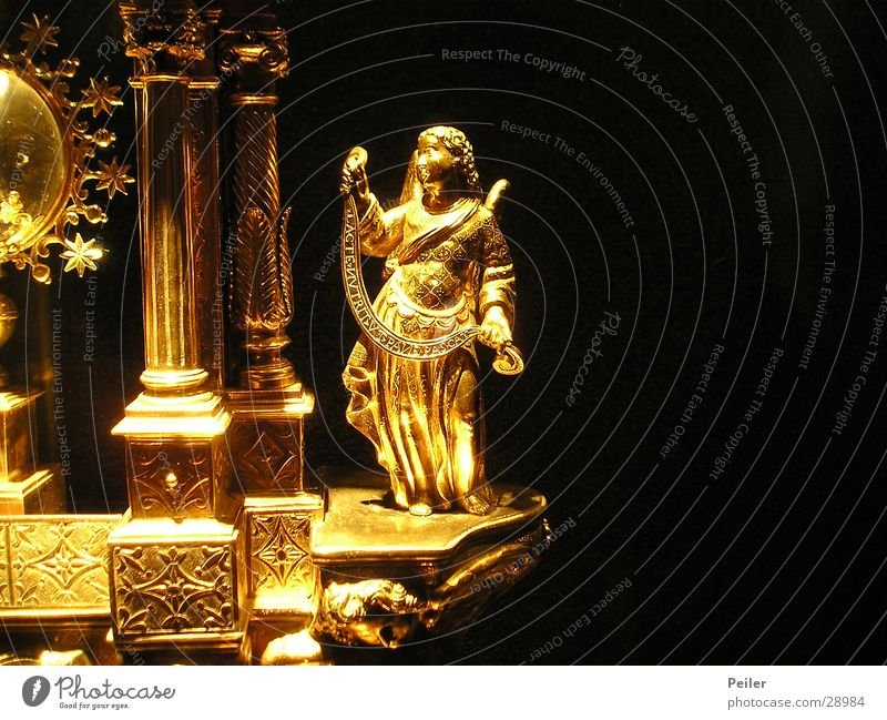 Engerla flying... Glittering Angel Historic Gold Lamp Religion and faith Güldern