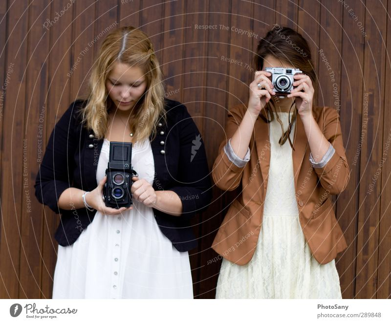 Human being Youth (Young adults) White Black Young woman Feminine Brown Photography Simple Camera Passion Hip & trendy Discover