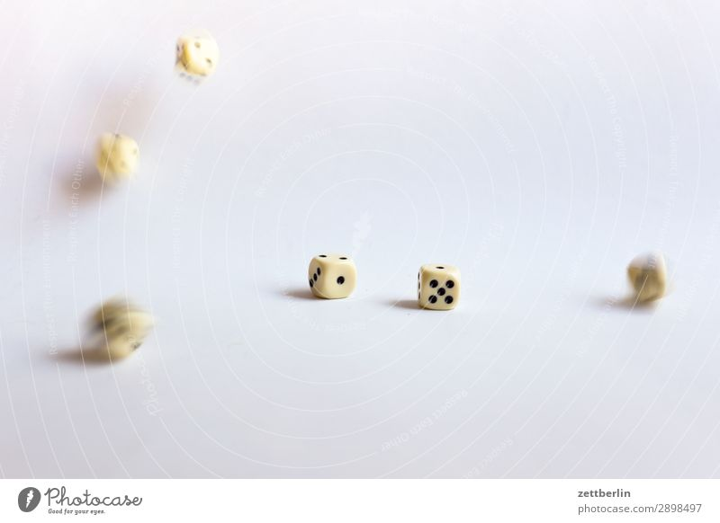 dice Throw dice Movement Motion blur To fall Happy Game of chance Kniffel double Playing Statistics Blur likelihood Dice Crap game Coincidence Deserted