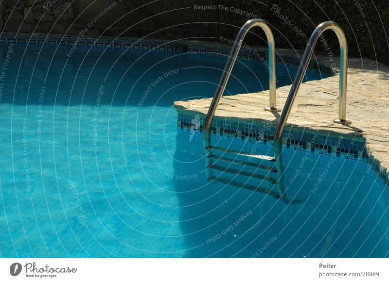 Water Blue Swimming pool Turquoise Ladder