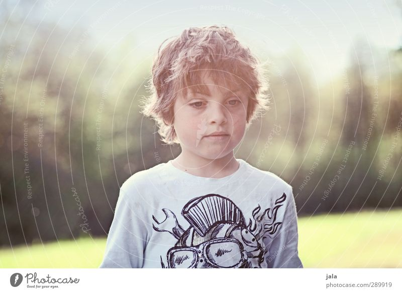 just a boy Human being Masculine Boy (child) Infancy 1 3 - 8 years Child Environment Nature Landscape Sun Autumn Plant Tree Meadow Authentic Beautiful Wild