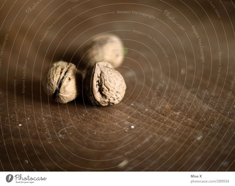 Christmas Pound 4 Food Nutrition Delicious Brown Walnut Nutshell Hard 3 Colour photo Subdued colour Close-up Deserted Shallow depth of field