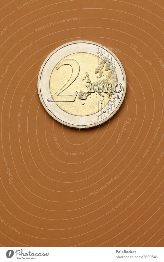 #A# Twos Art Esthetic Coin 2 Euro Europe Money Donation Monetary capital Financial transaction Loose change interest Capitalism Capital investment Colour photo