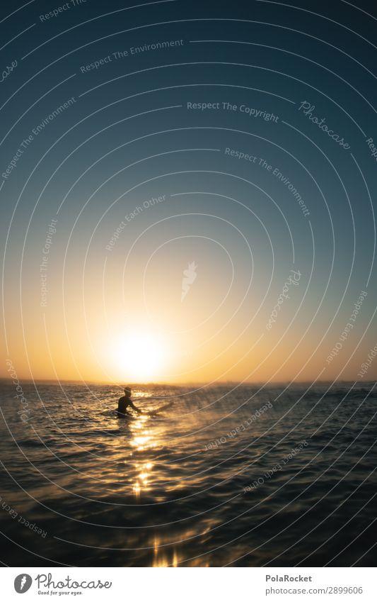 #AE# Golden Boy Art Esthetic Surfing Surfer Surfboard Surf school Romance Kitsch Cliche Ocean Aquatics Freedom Leisure and hobbies Vacation & Travel