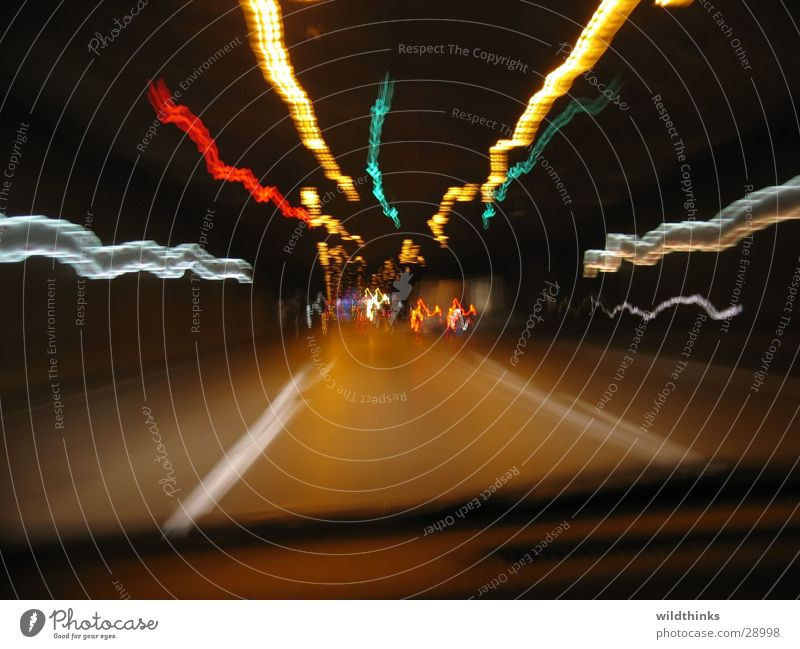 Berlin Nights / Berlin by Night Light Tunnel Long exposure Car