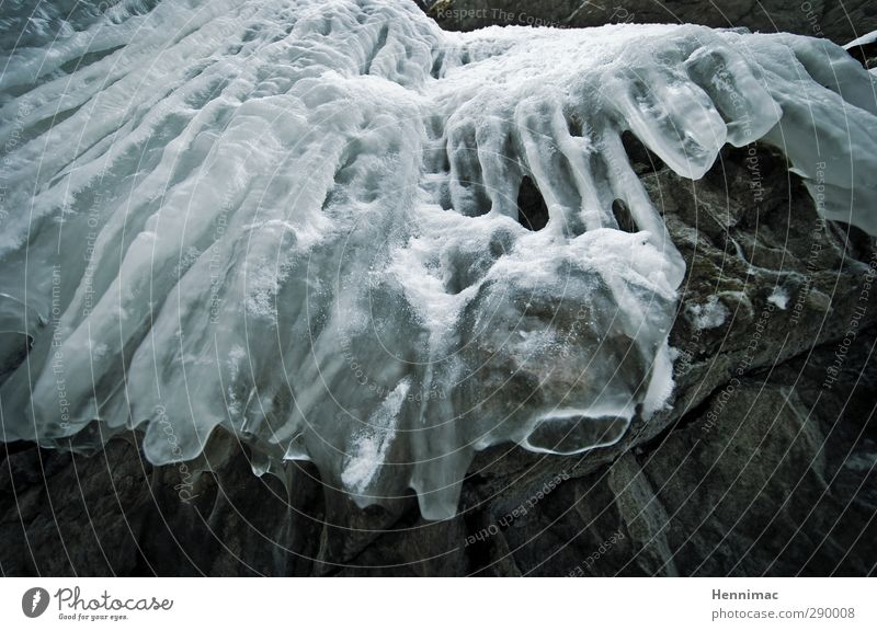 Nature Blue Water White Winter Cold Snow Gray Stone Rock Line Art Ice Esthetic Frost Frozen