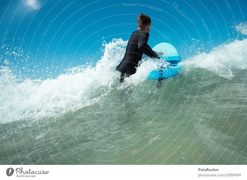 #AE# Feeling It Art Esthetic Surfing Surfer Surfboard Surf school Aquatics Ocean Blue Swell Masculine Colour photo Multicoloured Exterior shot Detail