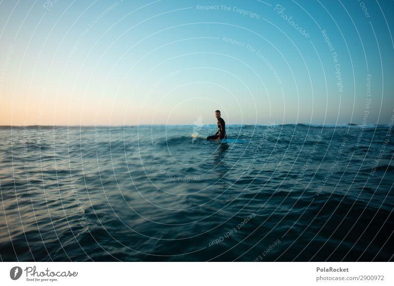 #AE# open water Art Work of art Esthetic Ocean Sea water Surfing Surfer Surfboard Surf school Blue Swell Freedom Surface of water Fuerteventura Colour photo