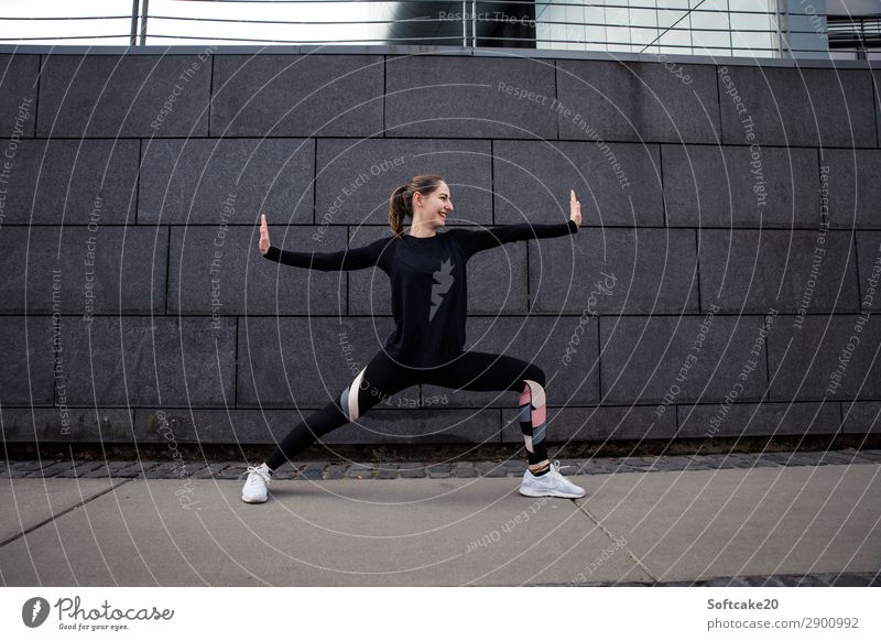 power pose Sports Fitness Sports Training Sportsperson Success Yoga Feminine Young woman Youth (Young adults) Woman Adults 1 Human being 18 - 30 years Breathe