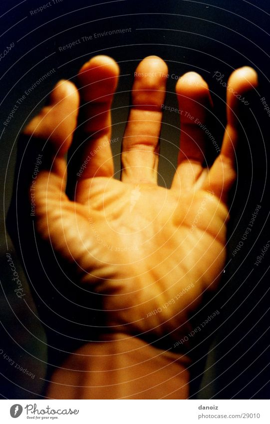 Hand Power Fingers Obscure Wrinkles Parts of body