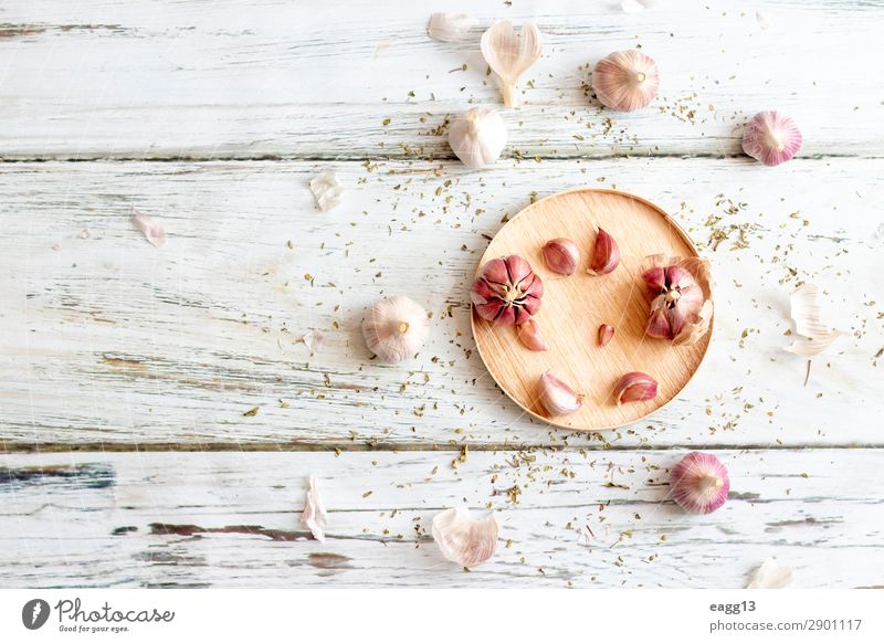 View of several heads of garlic, prepared for cooking Nature Plant Green Food Eating Life Natural Nutrition Fresh Kitchen Herbs and spices Vegetable