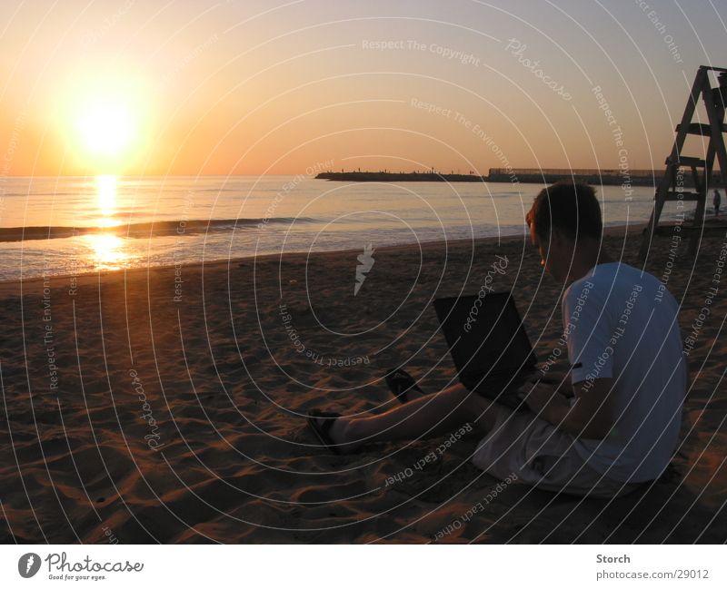 @ Beach Notebook Sunrise Vacation & Travel Ocean Spain Europe