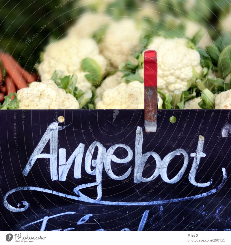 Offer to buy Food Vegetable Nutrition Fresh Healthy Delicious Sweet Sell Farmer's market Greengrocer Brassica Oleracea Vegetable market Cauliflower Colour photo